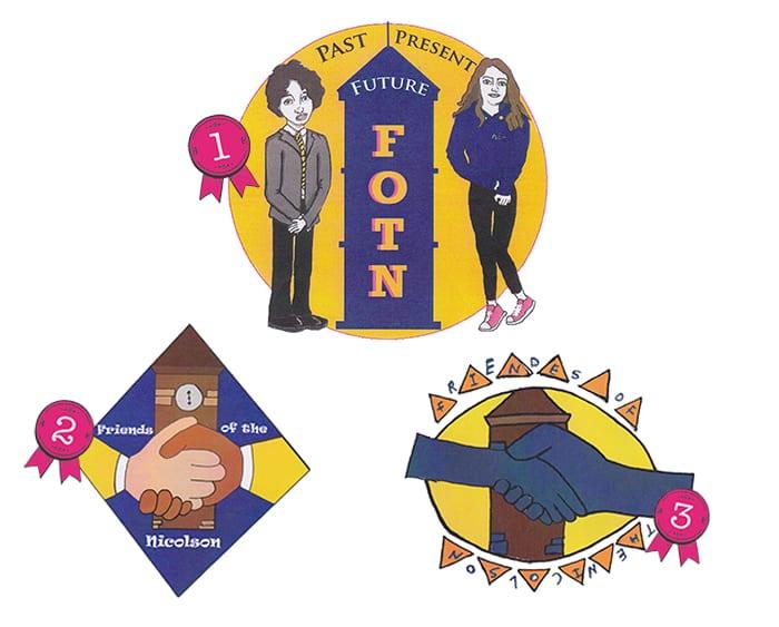 Nicolson Institute winning logos